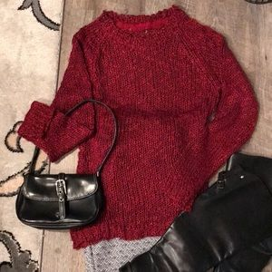 Sweaters - Red acrylic sweater